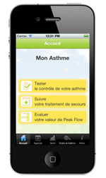 appli iphone MonAsthme